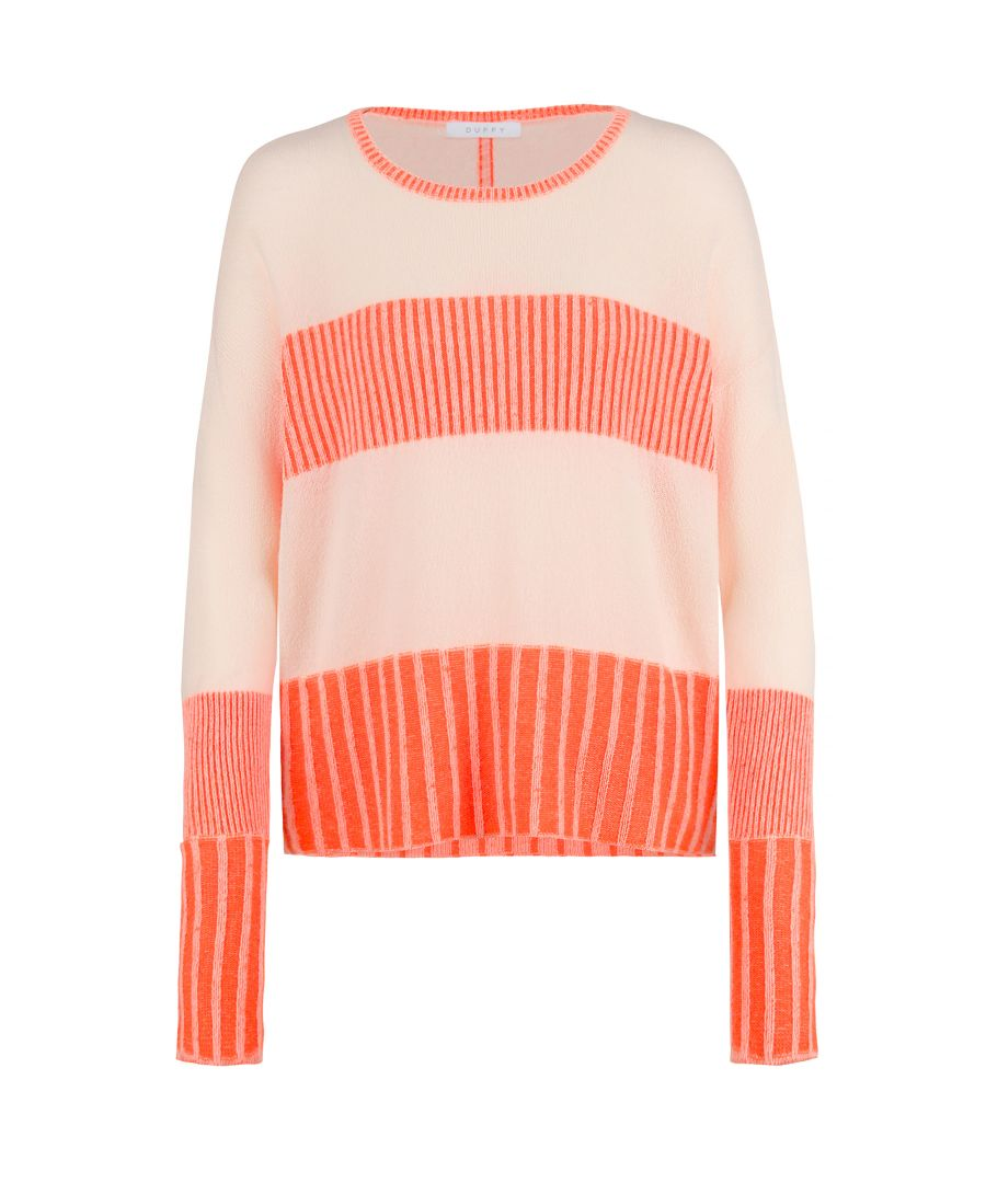 Image for Cashmere Jumper In Petal & Orange