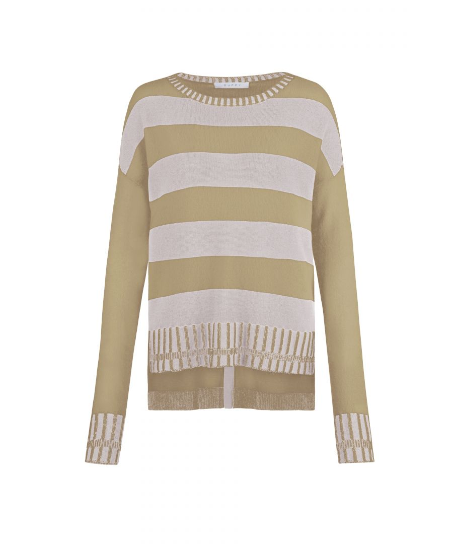 Image for Cashmere Jumper In Ivory & Sandstorm