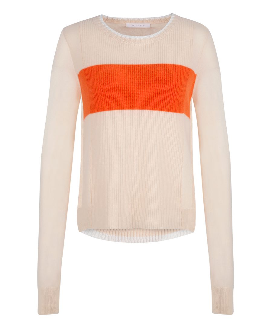 Image for Cashmere Jumper In Pink & Snow