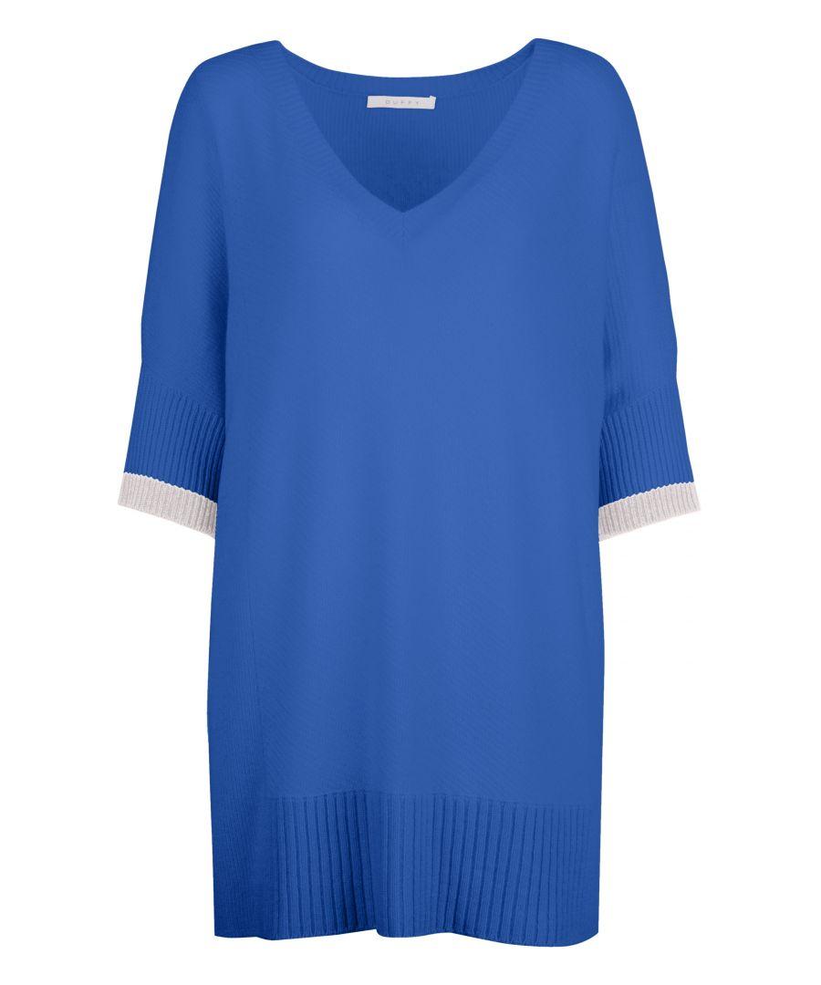 Image for Cashmere Jumper In Blue & Grey