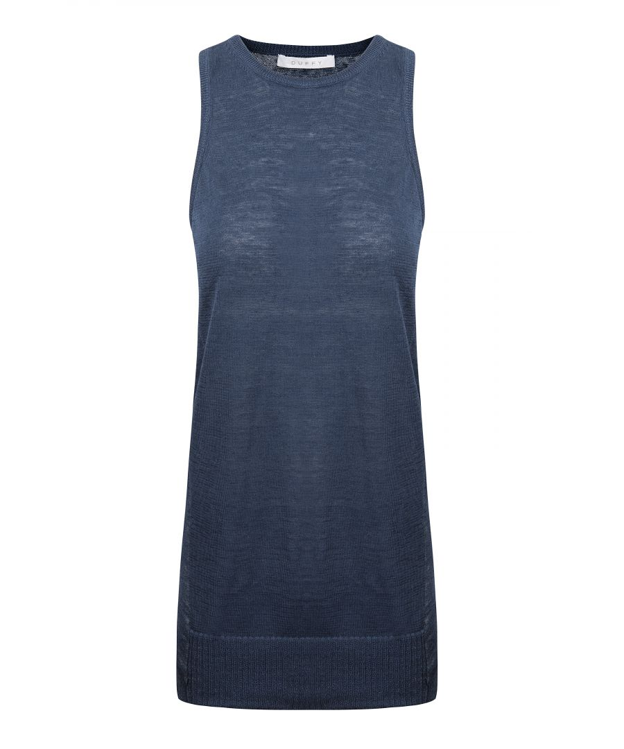 Image for Blue Linen Vest