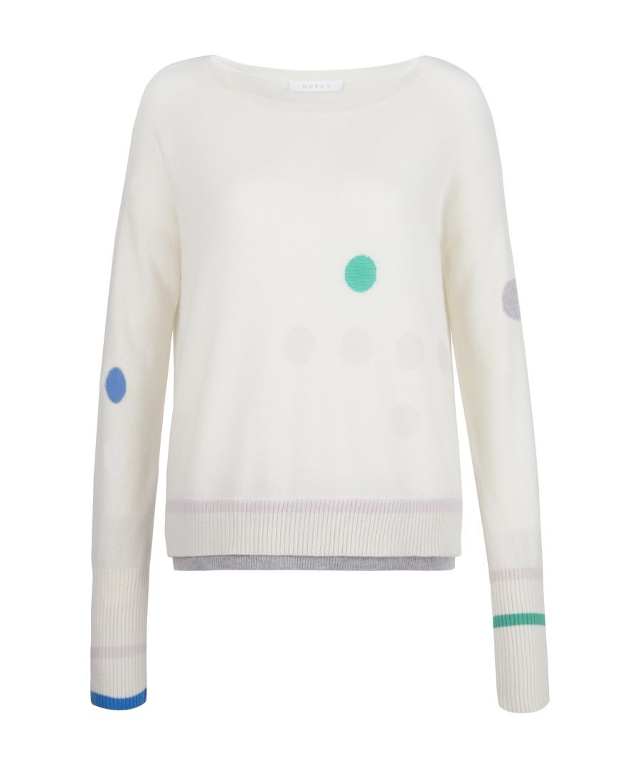 Image for Cashmere Jumper In Ivory, Green & Blue