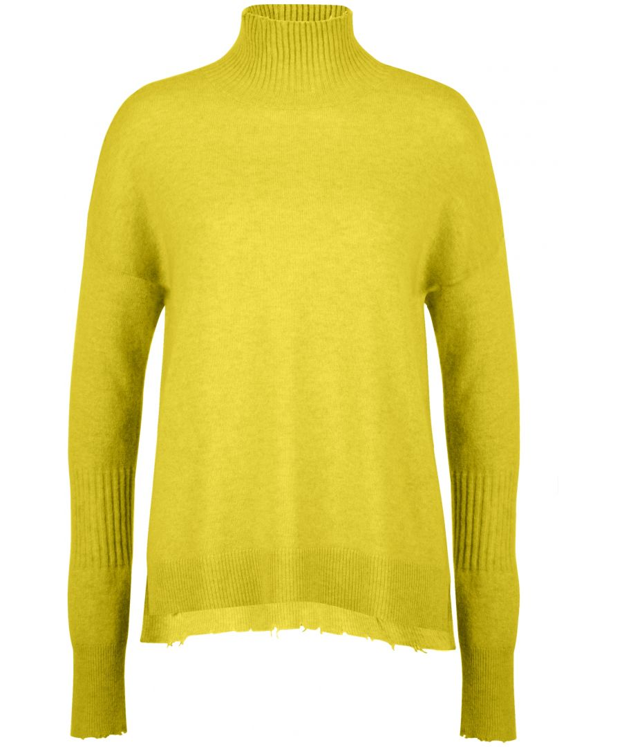 Image for Cashmere High Neck Jumper In Green