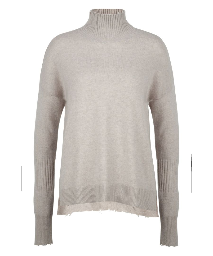 Image for Cashmere High Neck Jumper In Grey
