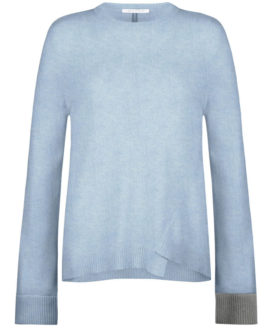 Image for Ladies Cashmere Jumper With Pop Cuffs