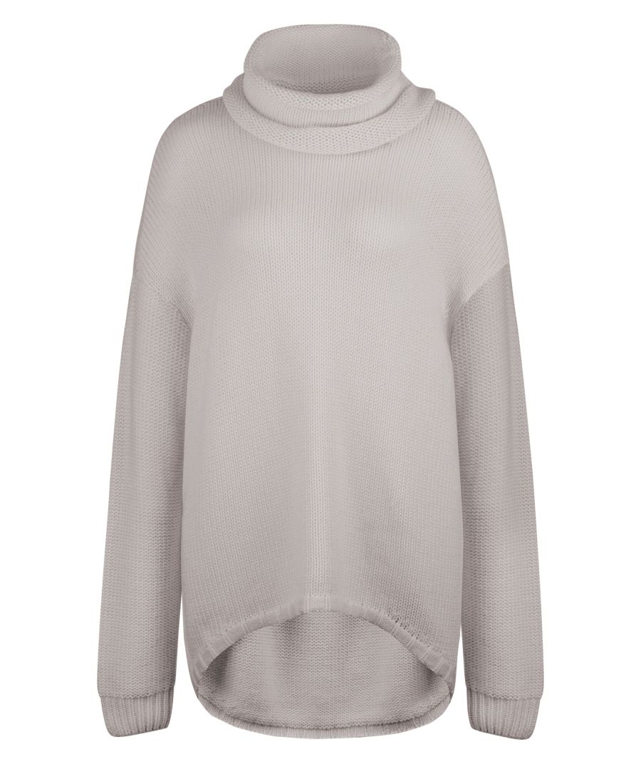Image for Duffy Ladies Oversized Mixed blend jumper