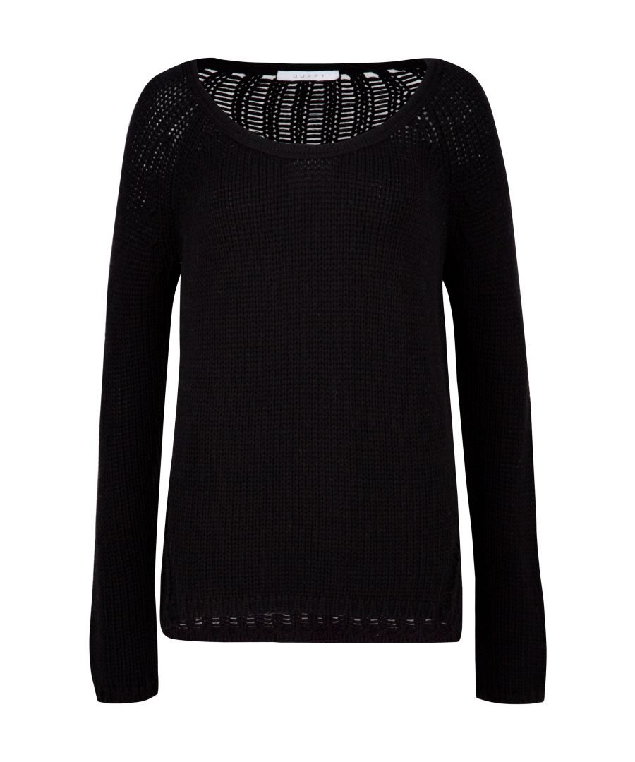 Image for Black Merino And Cashmere Jumper