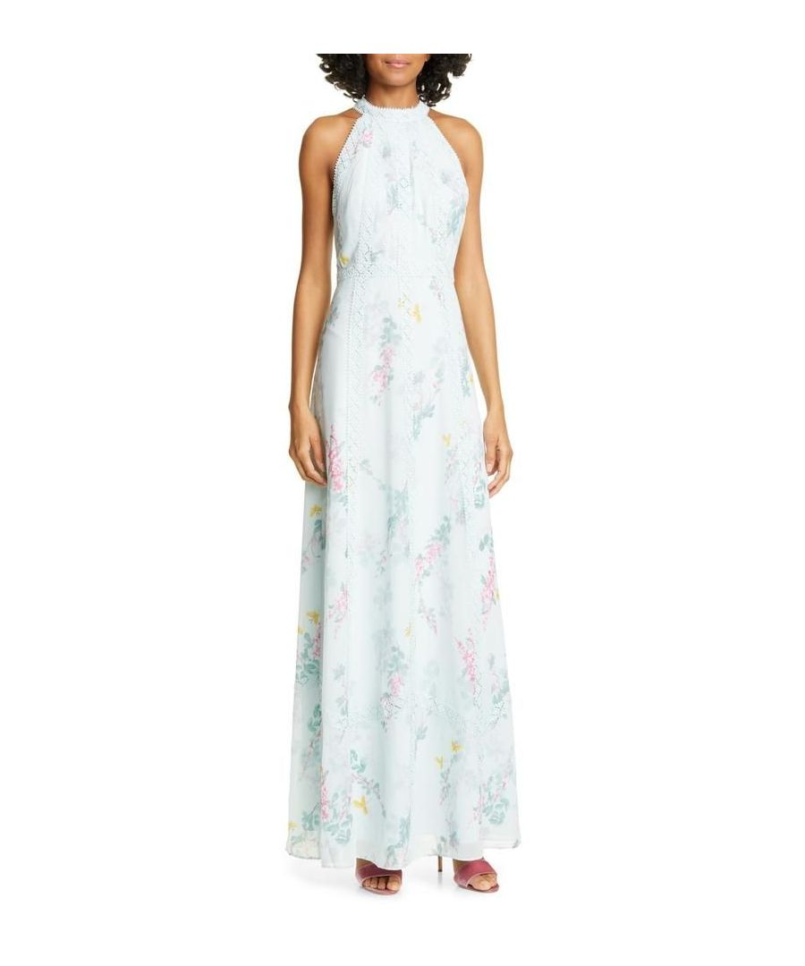 Image for Ted Baker Dahleen Sorbet Lace Maxi Dress, Pale Green