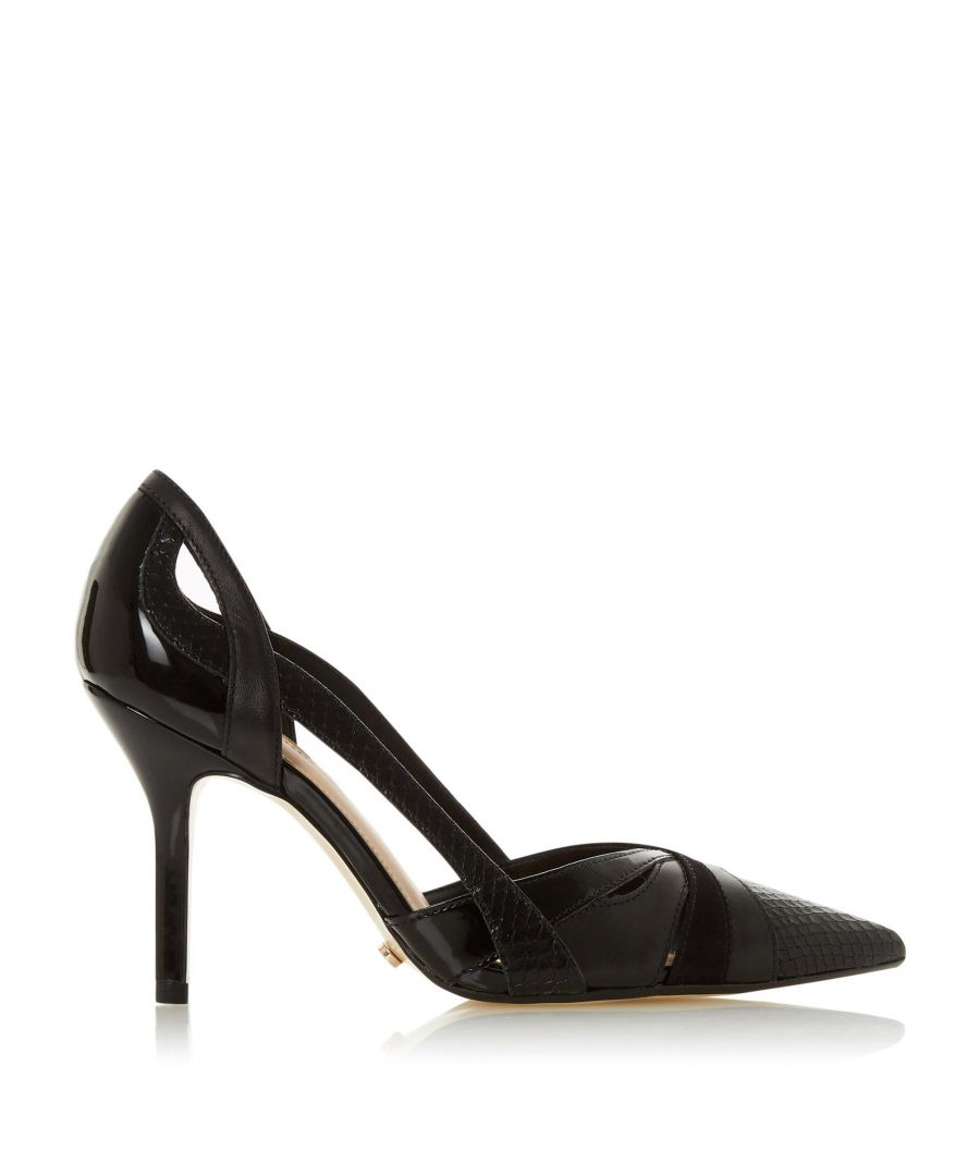 Image for Dune Ladies DAKOTA Two Part High Heel Court Shoes