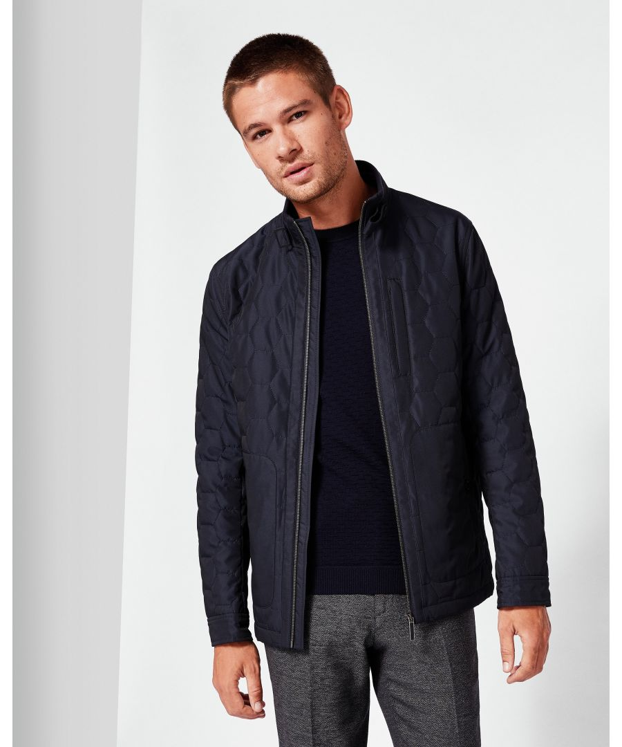 Image for Ted Baker Dalway Geo Quilted Jacket, Navy