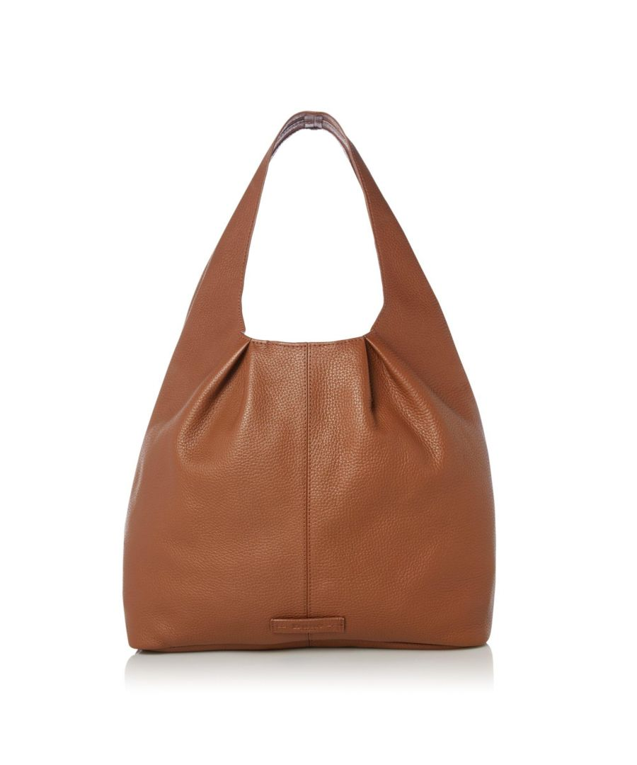 Image for Dune DASHIING Leather Seam Detail Slouch Bag