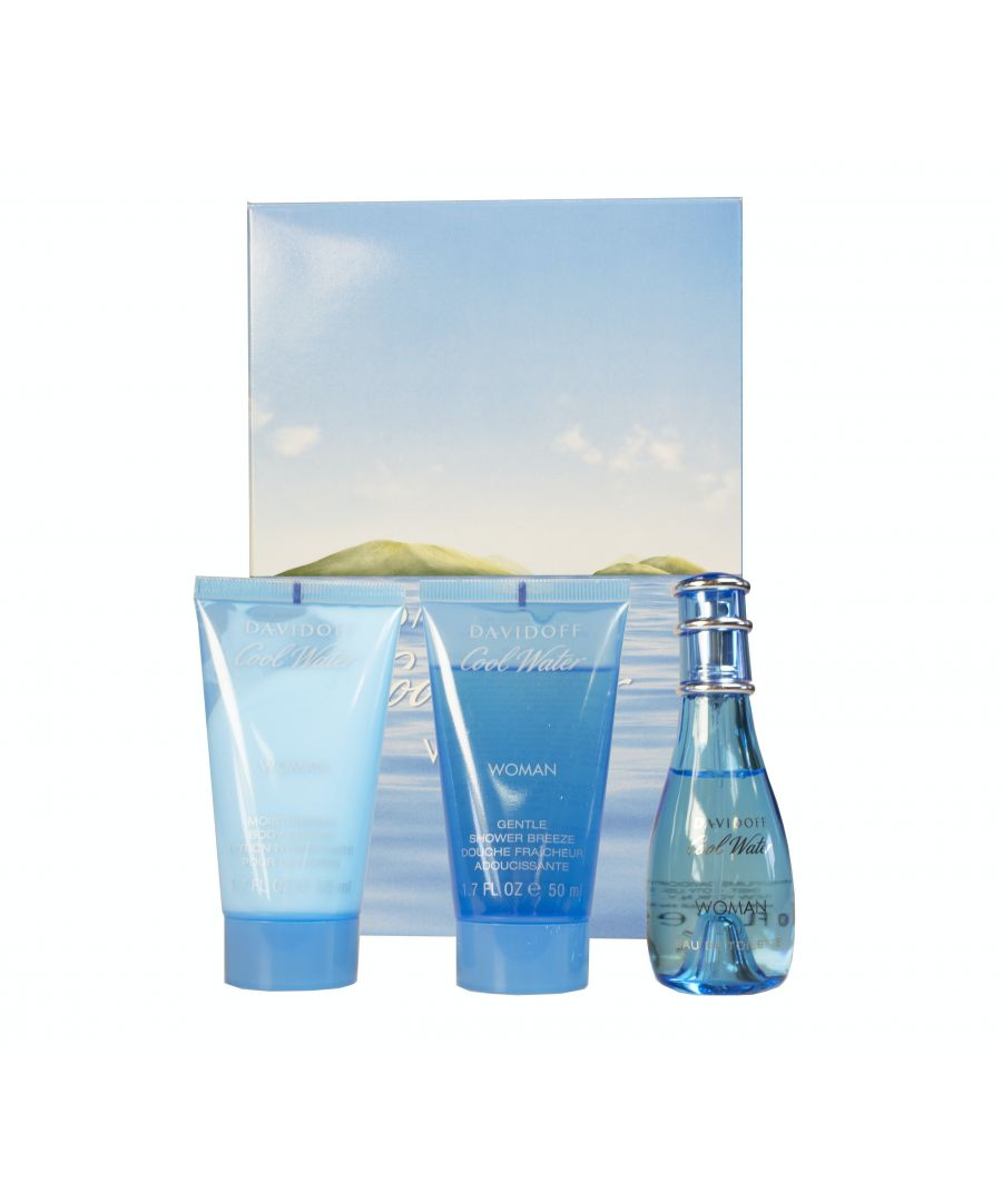 Image for Davidoff Coolwater Woman 30Ml Eau De Toilette And 50Ml Shower Gel And 50Ml Body Lotion