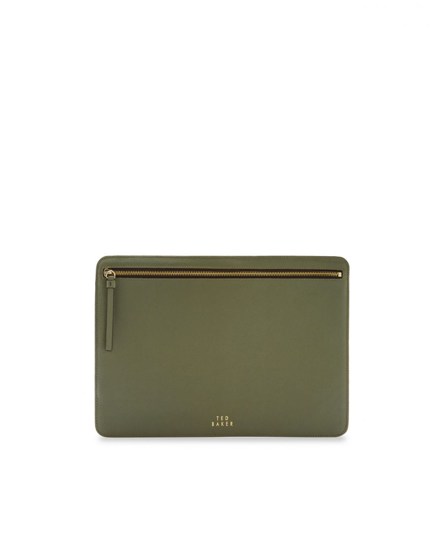 Image for Ted Baker Lirre Leather Document Pouch, Khaki