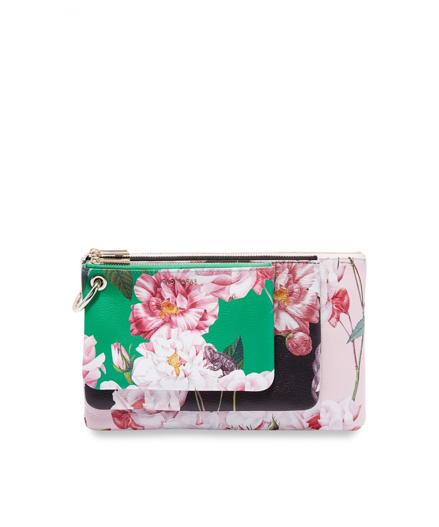 Image for Ted Baker Forayy Iguazu Leather Triple Pouch, Mid Red