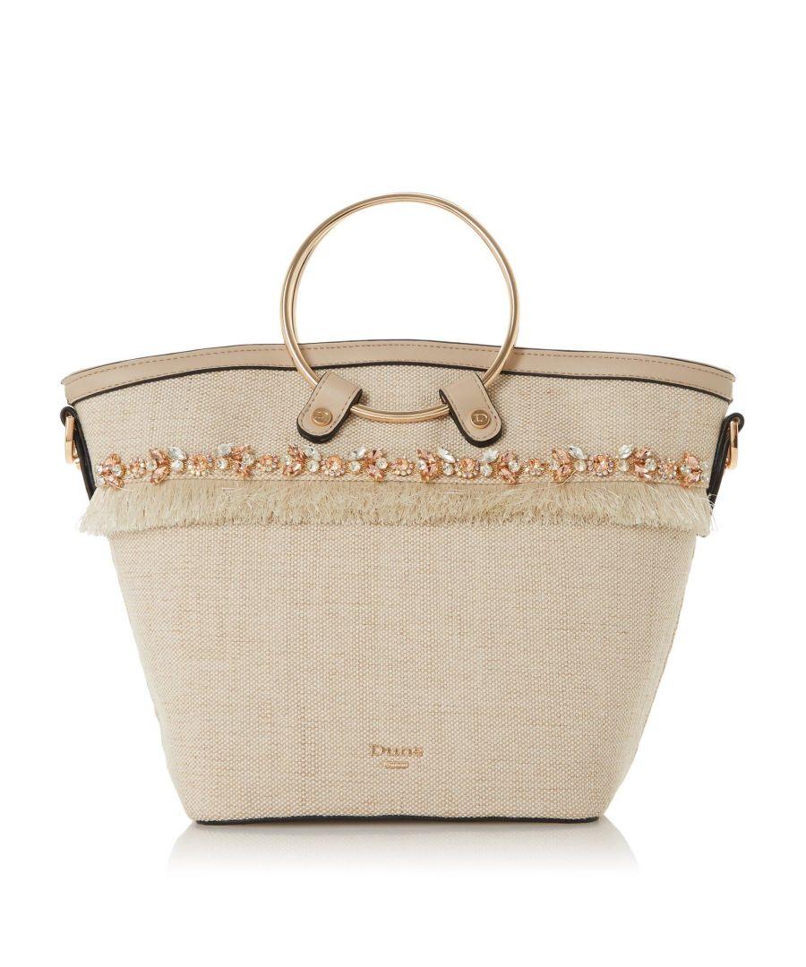 Image for Dune DEJEWEL Embellished Fringed Bag