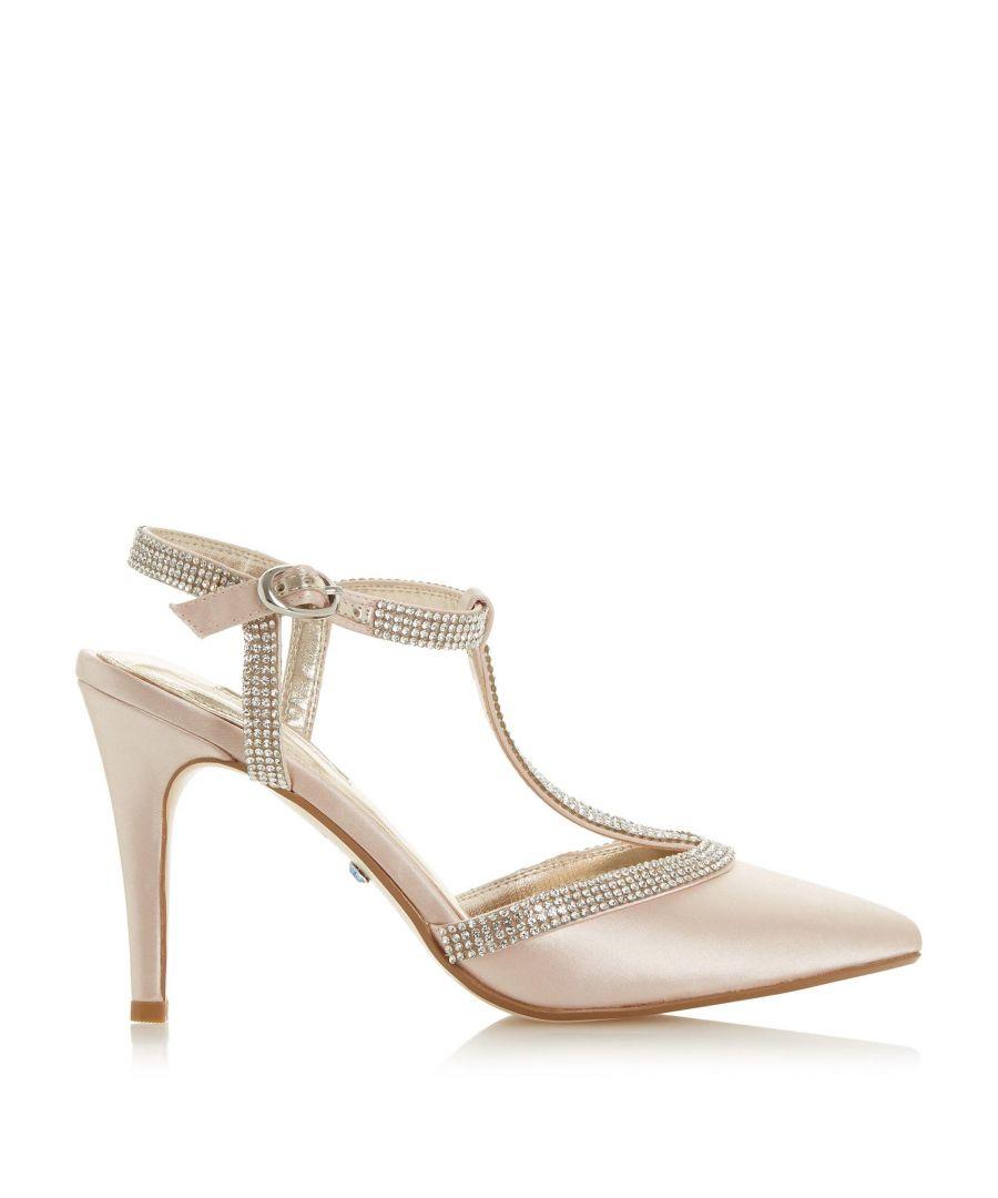 Image for Dune Ladies DELIGHTES JL Diamant? Toe T-Bar Court Shoes