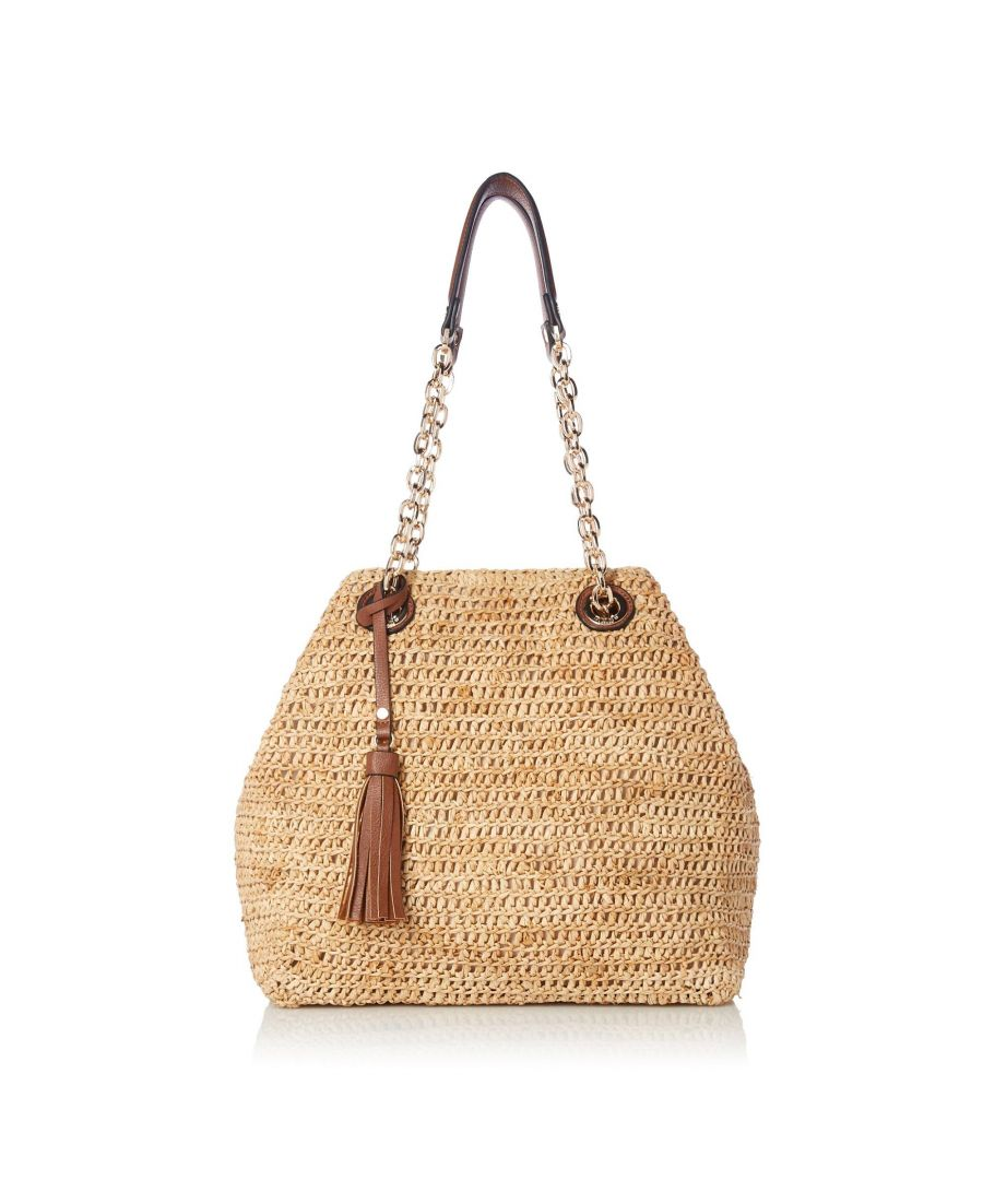 Image for Dune DELLIAH Large Slouchy Raffia Shoulder Bag