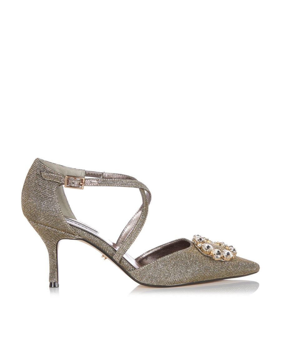 Image for Dune Ladies DELLORES Jewel Embellished Mid Heel Shoes