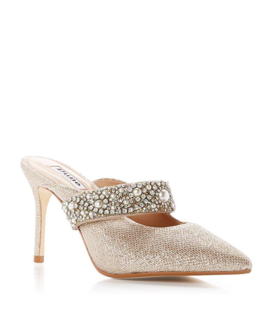 Image for Dune Ladies DESERVE Embellished Mid Stiletto Heel Mule