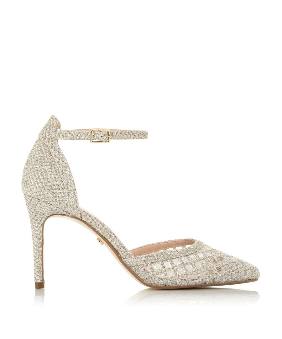 Image for Dune Ladies DOLLI DI Sparkle Mesh Pointed High Heel Court Shoes