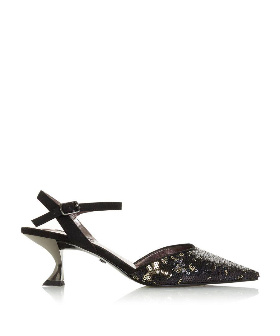 Image for Dune Ladies DORIAA Flared Heel Court Shoes