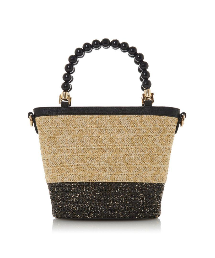 Image for Dune DOTTYY Bead Handle Woven Bag