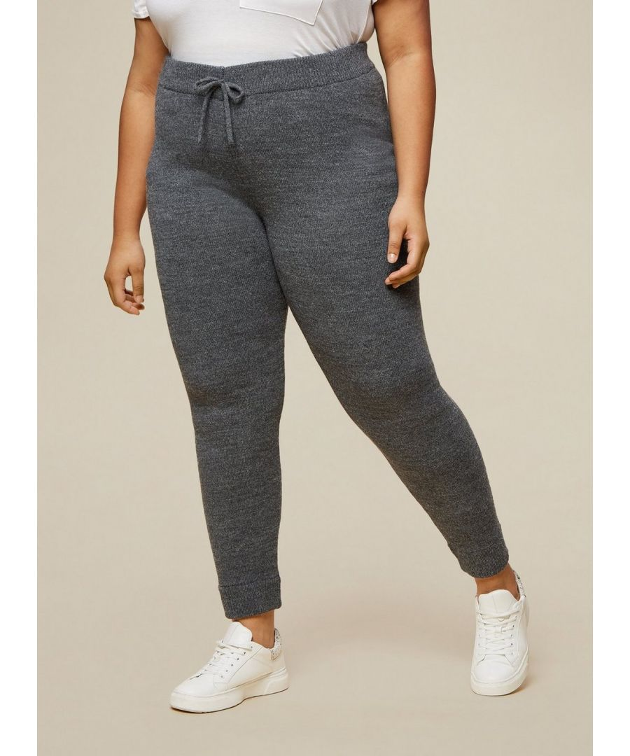 Image for Dorothy Perkins Womens Curve Charcoal Lounge Joggers Activewear Bottoms Trousers