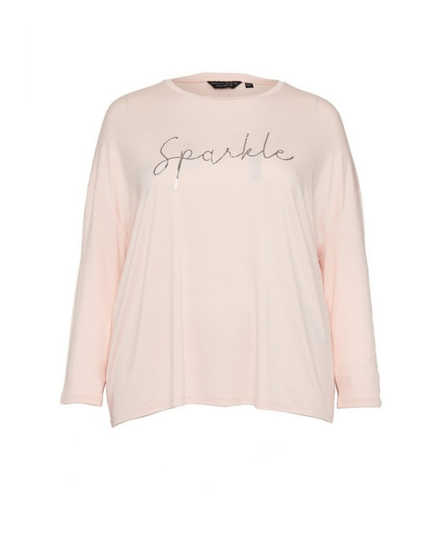 Image for Dorothy Perkins Womens Curve Blush Christmas Top Winter Holiday Shirt Blouse