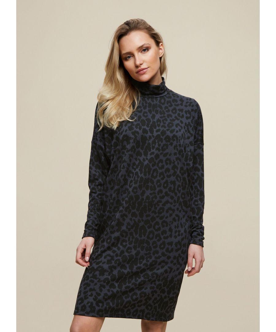 Image for Dorothy Perkins Womens Multi Colour Leopard Print Shift Dress Long Sleeve