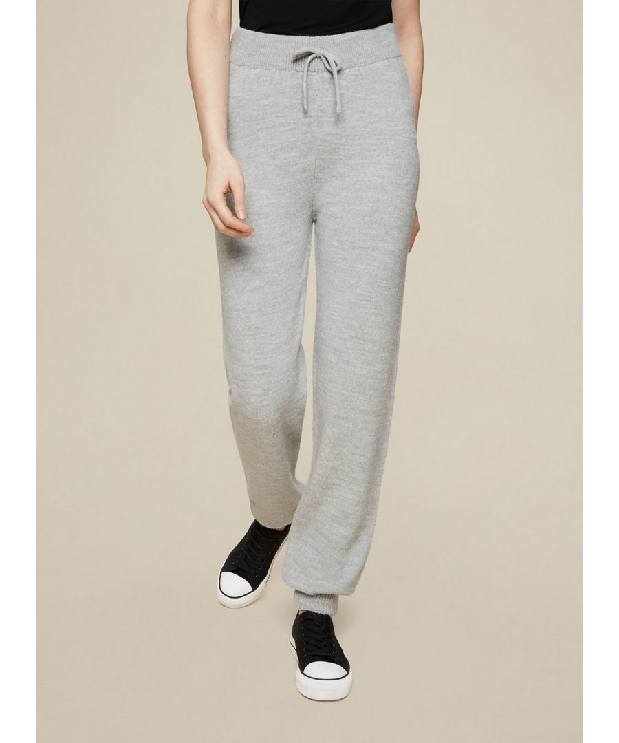 Image for Dorothy Perkins Womens Tall Grey Knitted Joggers Activewear Bottoms Trousers