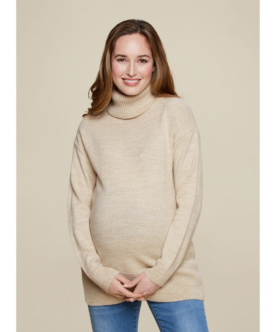 Image for Dorothy Perkins Womens Maternity Beige Jumper Knitwear Pullover Sweater