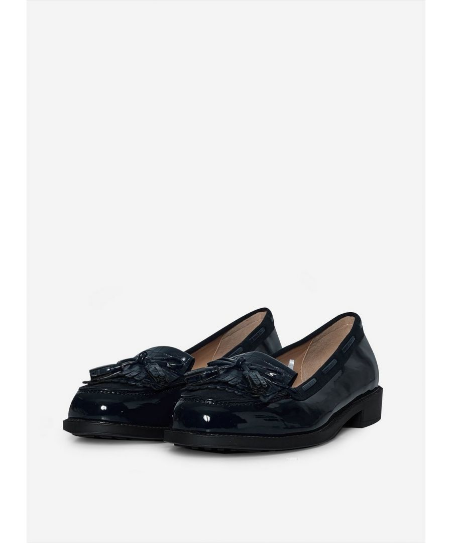 Image for Dorothy Perkins Womens Wide Fit Navy Lexy Loafers Flats Comfort Work Shoes
