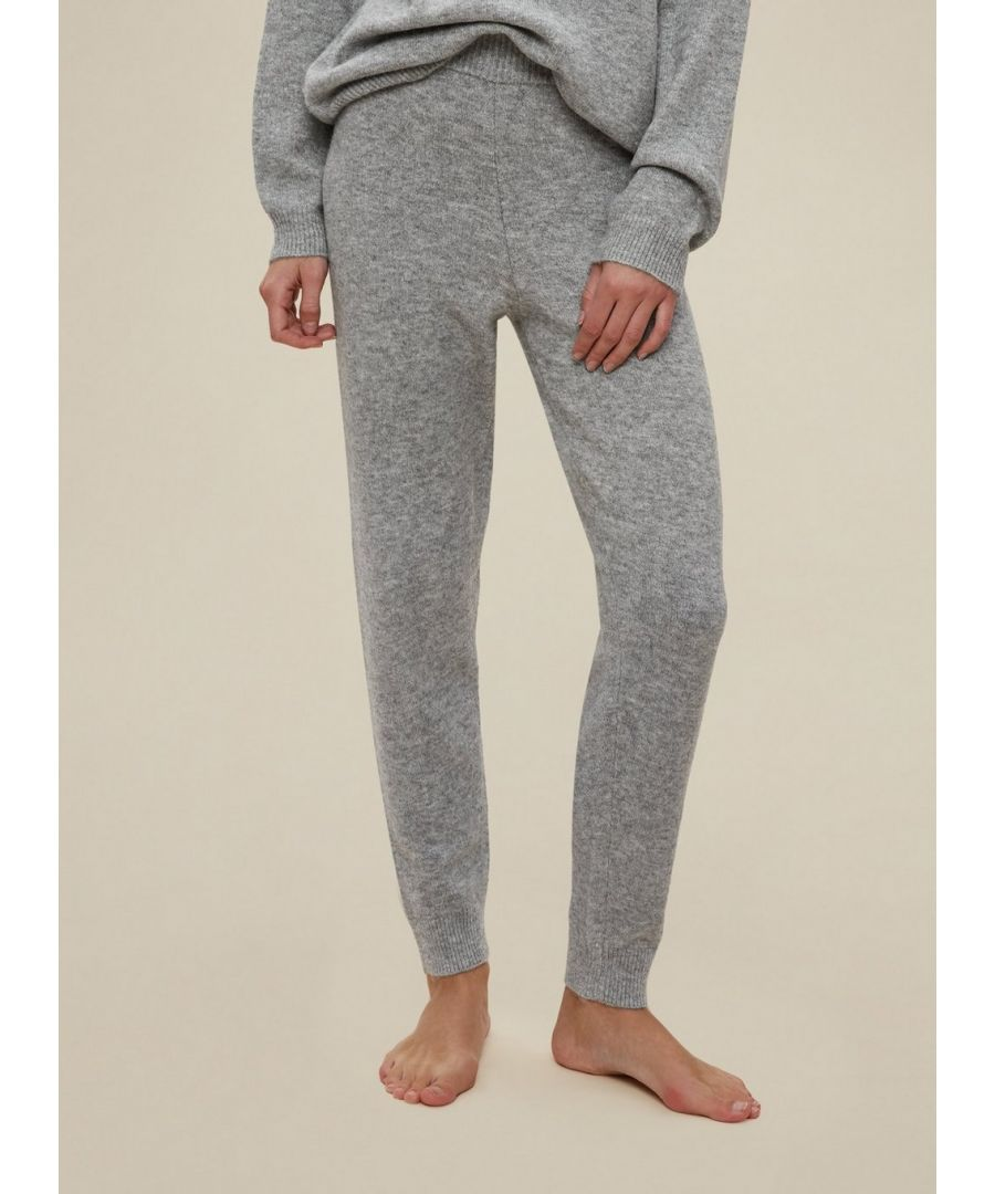 Image for Dorothy Perkins Womens Grey Knitted Joggers Sports Activewear Trousers Bottoms