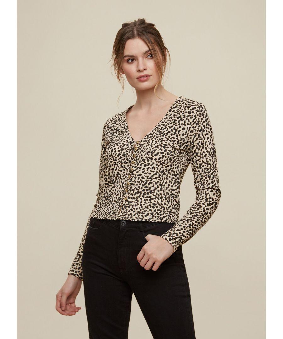 Image for Dorothy Perkins Womens Black Print Textured Cardigan Coatigan Knitwear Top