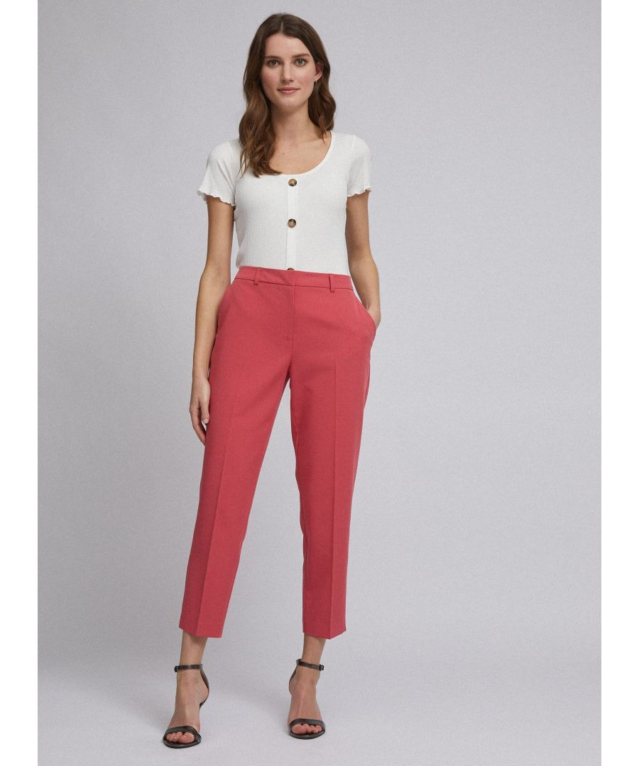 Image for Dorothy Perkins Womens Pink Ankle Grazer Tailored Trousers Pants Bottoms