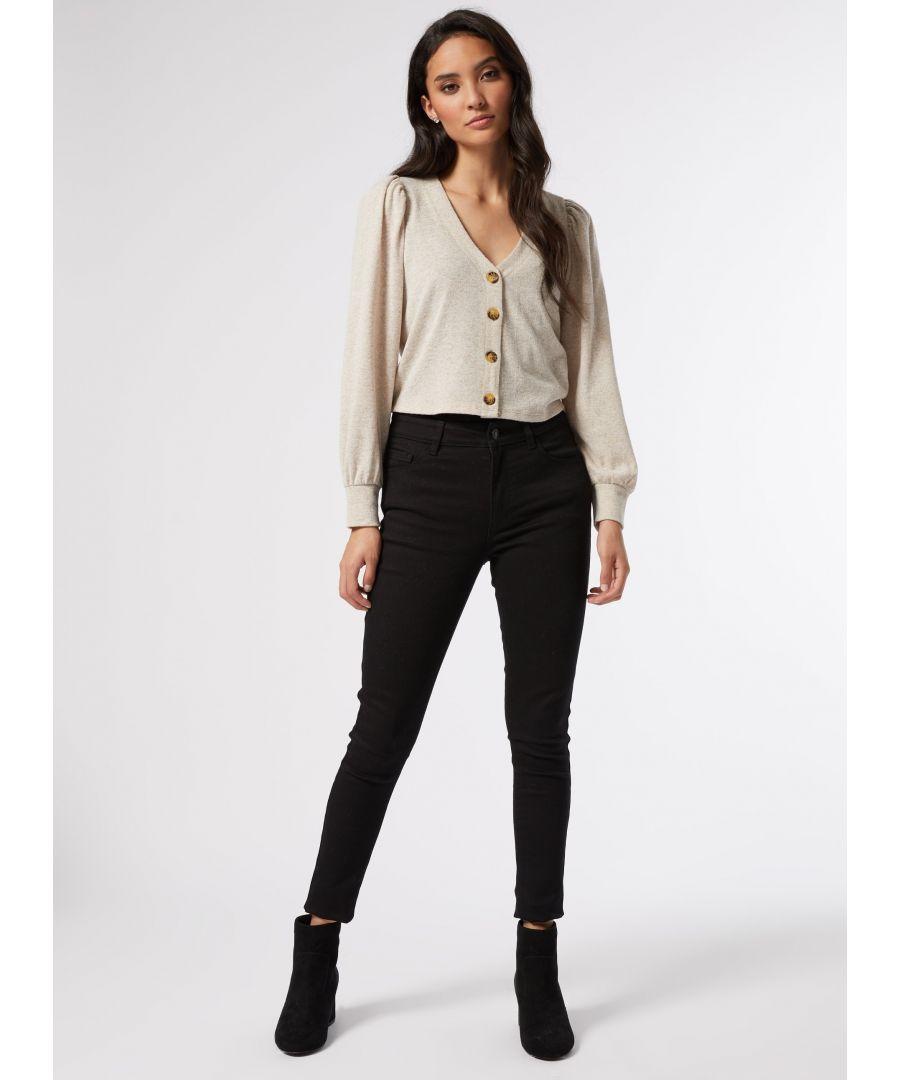 Image for Dorothy Perkins Womens Petite Oatmeal Cardigan Knitwear Outwear Top Long Sleeve