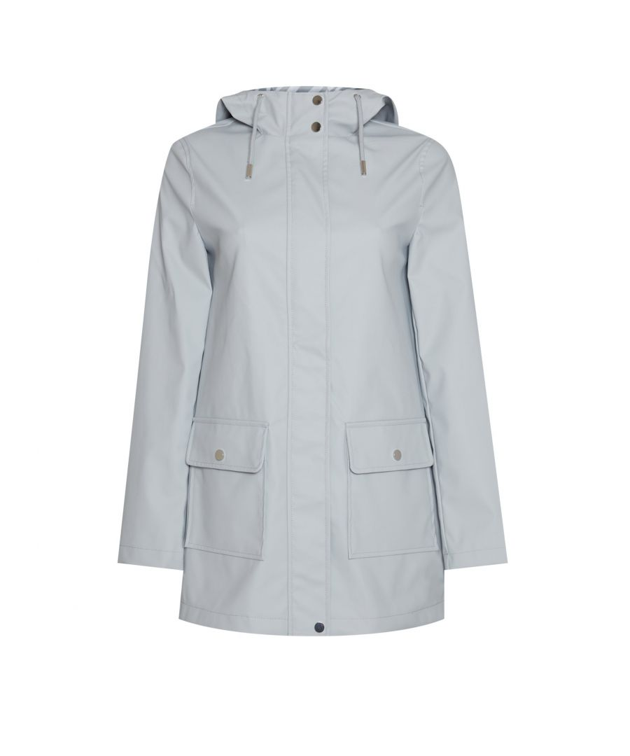 Image for Dorothy Perkins Womens Pale Blue Polyester Raincoat Winter Jacket Outwear Top
