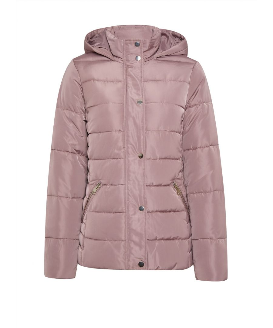 Image for Dorothy Perkins Womens Blush Short Padded Coat Jacket Winter Warm Zip Outerwear