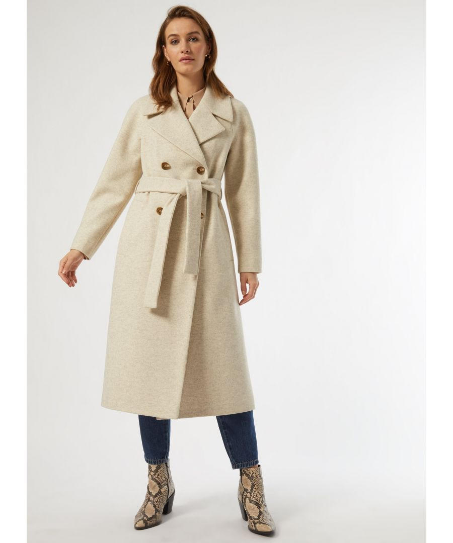 Image for Dorothy Perkins Womens Ivory Detail Sleeve Coat Jacket Outwear Top Warm Winter