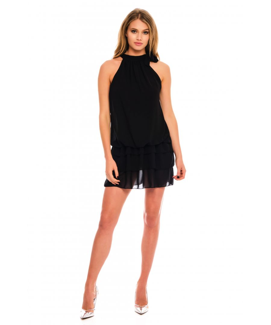 Image for Carla High Neck Mini Dress