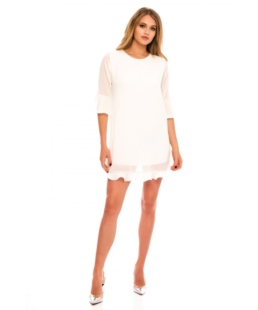 Image for Tany Mini Dress With Three Quarter Sleeves