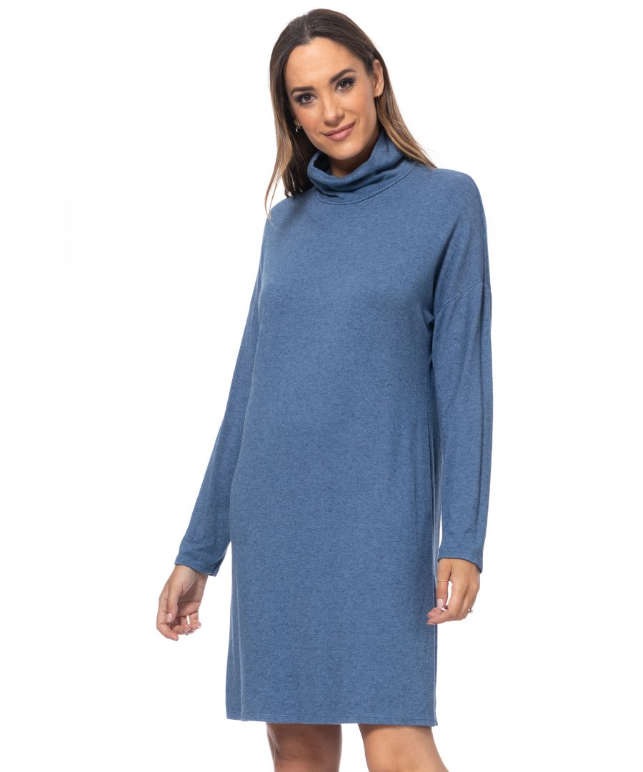 Image for Knit dress with  turtle neck