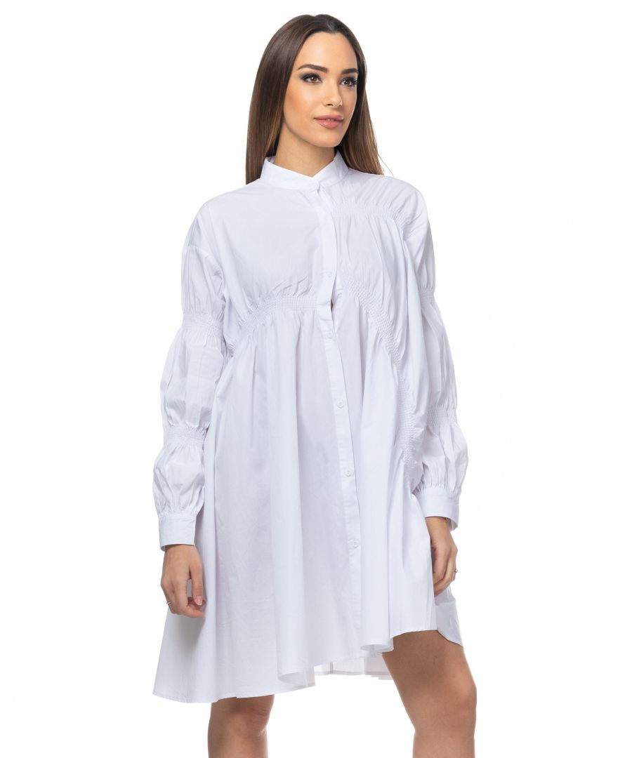 Image for Oversize asymmetric dress with elastic bands