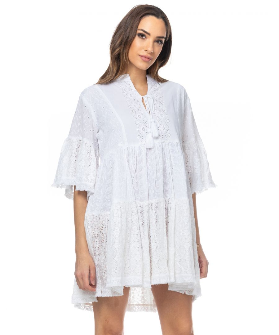 Image for Batista and la lace dress with 3/4 sleeves