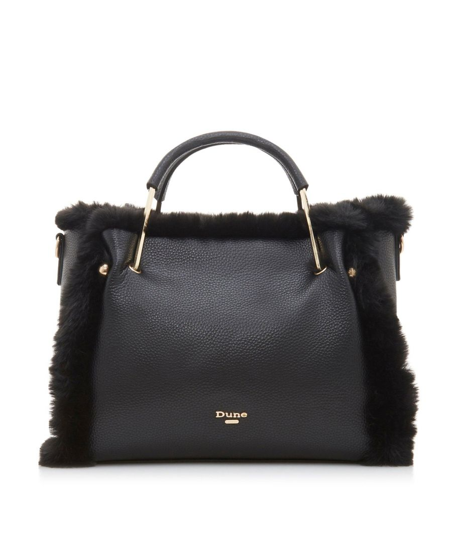 Image for Dune DTEDDDY Medium Faux Fur Lined Tote Bag