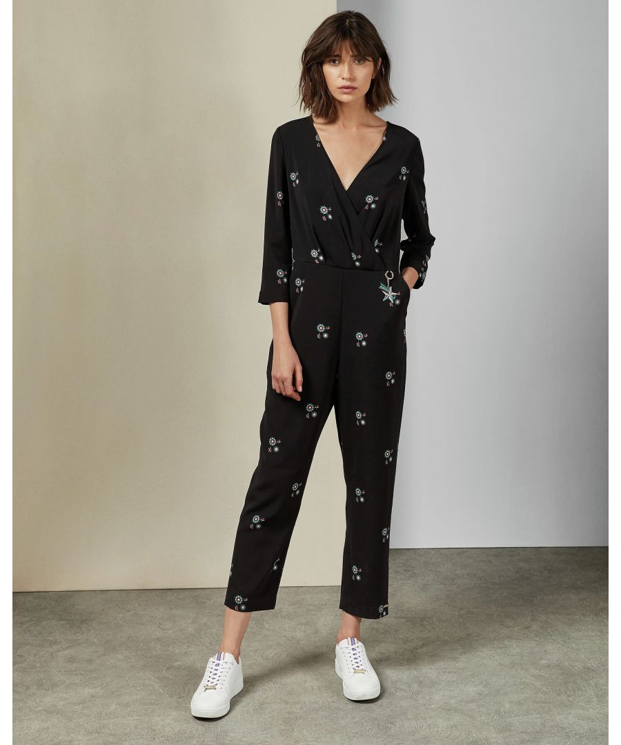 Image for Ted Baker Duasba Cbn Midnight Sun Jumpsuit, Black