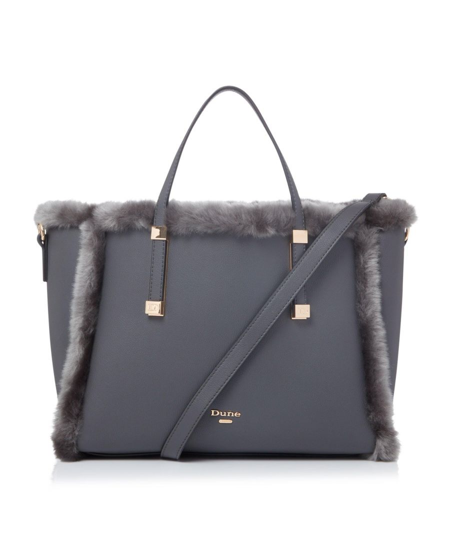 Image for Dune DUFFIES Faux-Fur Trimmed Tote
