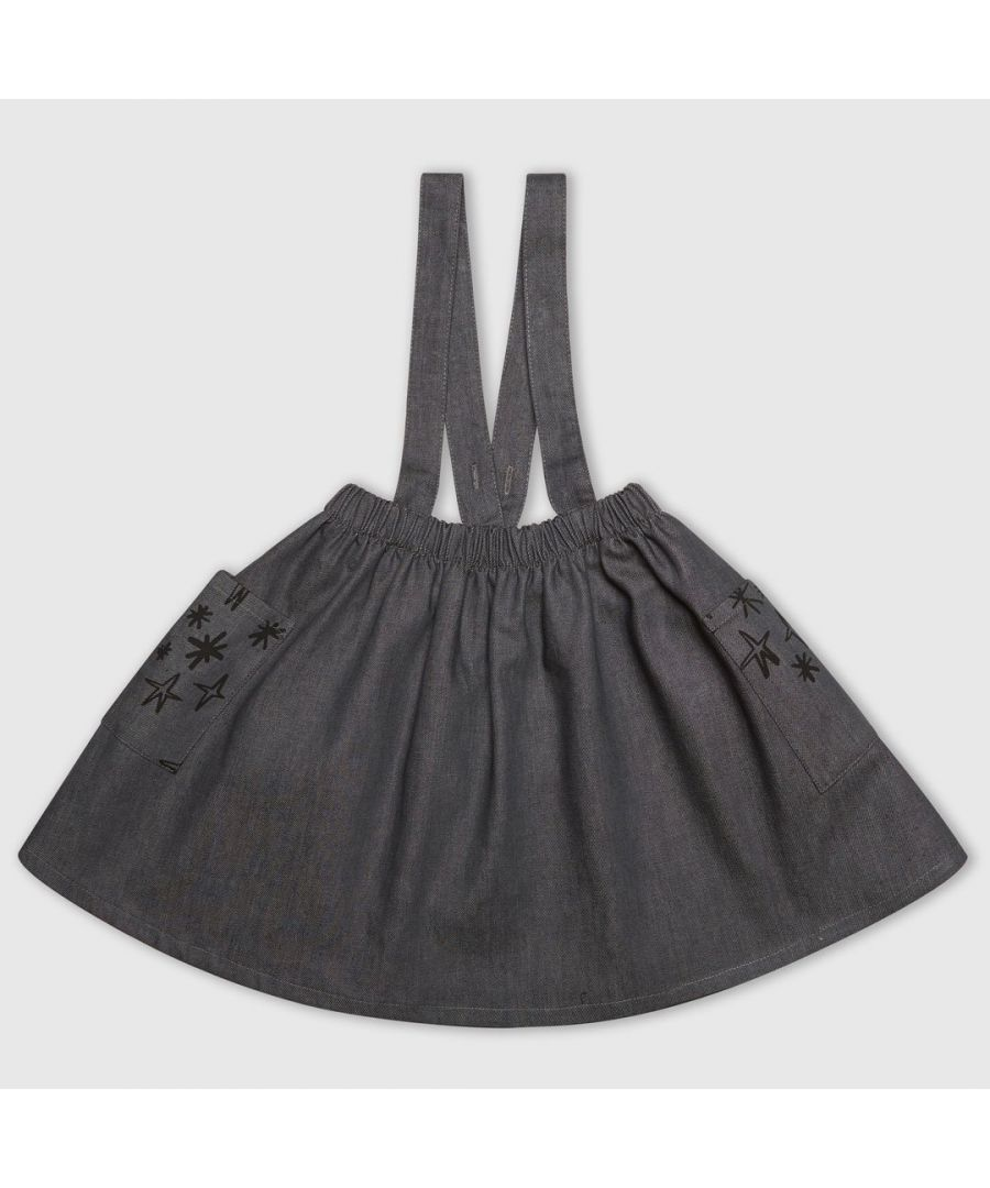 Image for Denim Star Pinafore Dress
