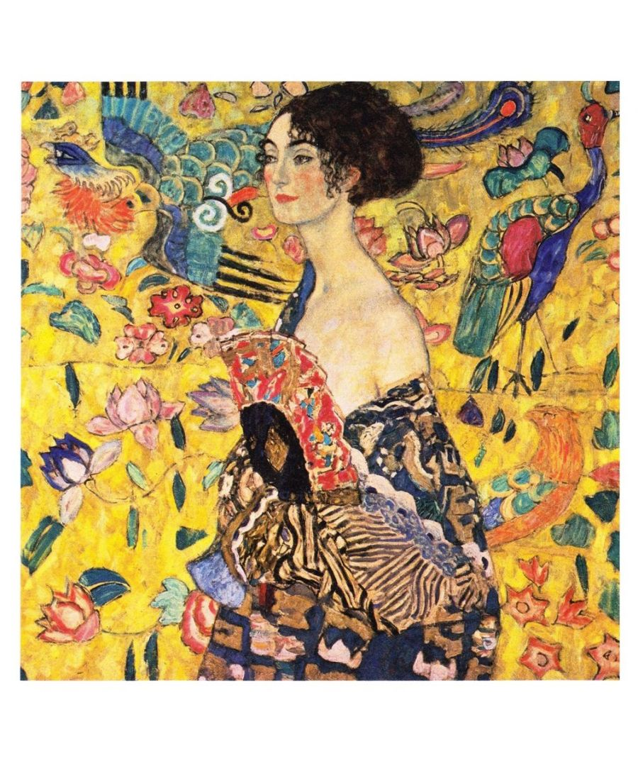 Image for Canvas Print - Lady With Fan - Gustav Klimt