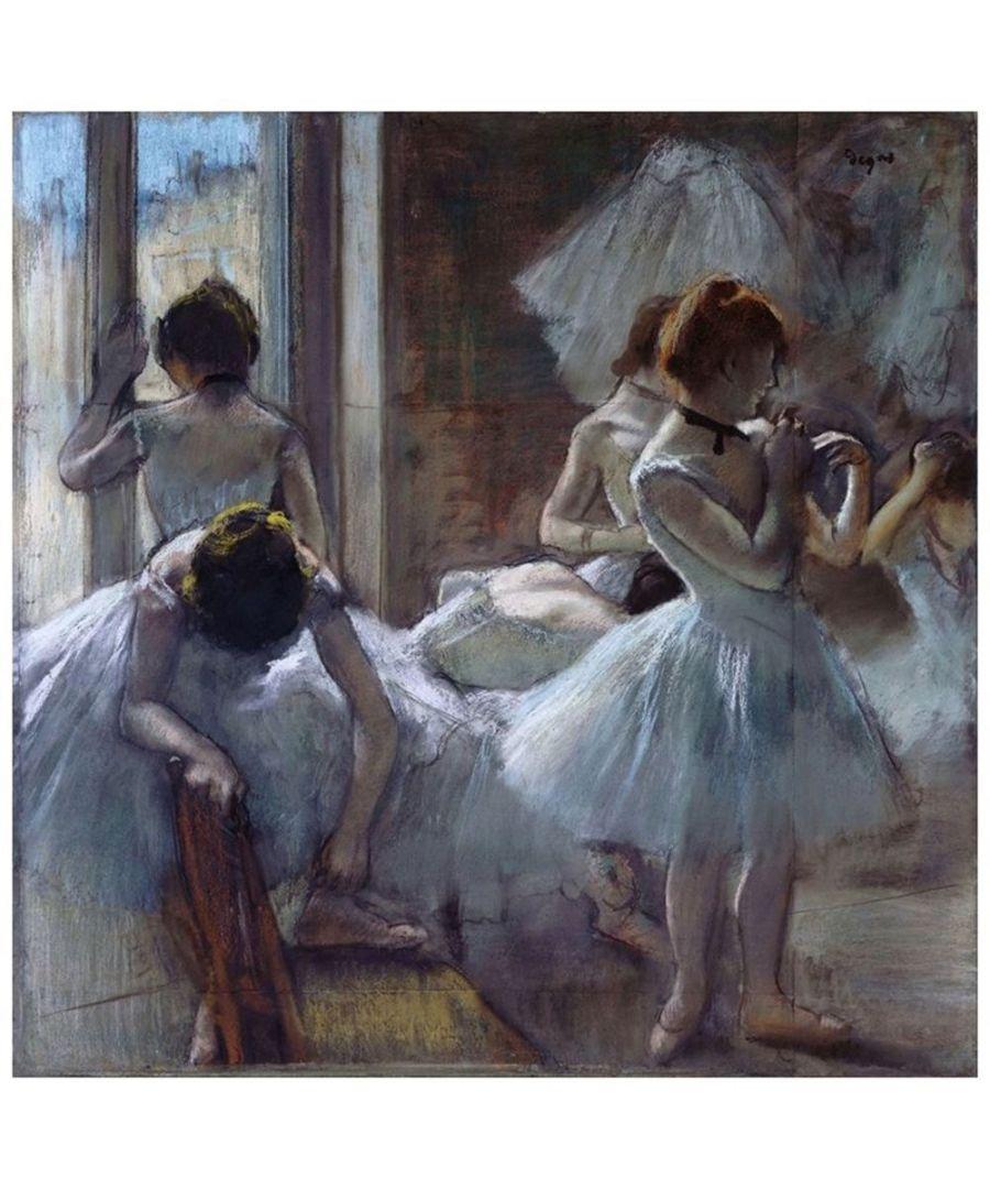 Image for Canvas Print - Dancers - Edgar Degas Cm. 90x90